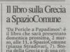 01. Annuncio- Da Pericle a Papadimos, La Provincia- di Cremona- 28.02.2014