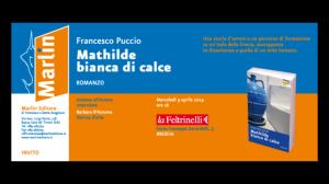 INVITO- Mathilde bianca di calce, romanzo di F. Puccio alla Feltrinelli di Brescia