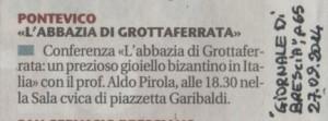 02.Pontevico-Confer. Monastero bizantino-Giornale di Brescia, 27.09.2014 (1)