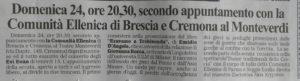 """""""Primapagina"""" del 22/4/16 pag.33"""